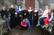 Cast and crew of the Ballymacelligott Drama Group pictured during a dress rehearsal for their play 'Drinking Habits' at the Ivy Leaf Art Centre on Sunday. Included are, front: Orla and Thomas O'Connor. Back: Seamus Quirke, Leo and Baby Dáithí O'Connor, Catherine Leahy, Tom O'Sullivan, Kay Dowling, Angela Lenihan, John McKeown, Ita O'Brien and Ellie Lenihan. ©Photograph: John Reidy