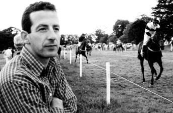 Killarney born champion National Hunt jockey, Jim Culloty was an interested spectator at the Castleisland Races at Crag on Sunday afternoon. ©Photograph: John Reidy 24-6-2001