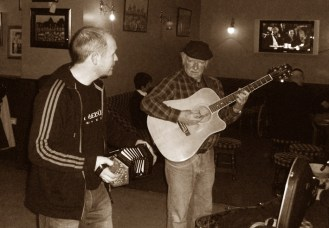 Arty McGlynn and Tony O'Connell in Brosna 24-3-2014