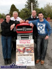 At the launch of the Castleisland Vintage Run at The Halfway Bar in Ballymacelligott were from left: Pat Mangan, Noel O'Connor, Frank O'Connor and Pádraig McCarthy. ©Photograph: John Reidy