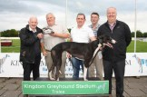 Noel Browne winner of Rhyno Mills 525 being presented with his award by Connie Horan of Rhyno Mills. Included are: Eddie O' Mahony, trainer; John Roche, Desmonds and Gerard Murphy.