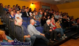 An attentive audience during the first of the Handed Down series of talks and concerts at Scartaglin Heritage Centre on Saturday night. ©Photograph: John Reidy