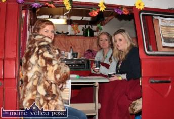 The HercOileán after-party ticket office with: Tara Walmsley (left) Cathleen Reidy and Chloe Kelliher at An Riocht AC on Saturday night. ©Photograph: John Reidy