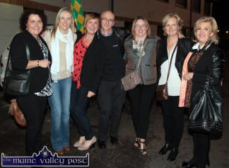 Mary Clare Coyne (left) pictured with: Ann Marie O'Connor, Margaret Kelleher, Tony O'Sullivan, Cateriona Daly, Therese Roche and Geraldine Finn at the HercOileán After Party at An Riocht AC on Saturday night. ©Photograph: John Reidy