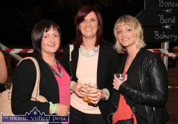 Ruth Lyons (left) pictured with: Oonagh Scanlon and Siobhán O'Sullivan at the HercOileán After Party at An Riocht AC on Saturday night. ©Photograph: John Reidy