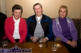At the making of the RTÉ Radio ! Documentary on the life and times of Con Carey at Kate Pats's Bar in Brosna were from left: Maura Sheehan, Dónal O'Connor and Norrie O'Connor. ©Photograph: John Reidy 13-11-2013