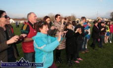 The Smart-Phone era: Photographers line up to capture the smiling Desmonds ladies' team after they defeated Kilmacud Crokes in the All-Ireland Intermediate Club semi-final in Castleisland on Sunday. ©Photograph:John Reidy