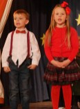 James Burke and Molly Moran are the narrators for Our First Nativity.