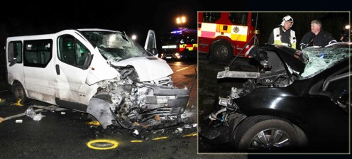 A composite of the vehicles from the scene last evening. Photograph: Tony O'Brien