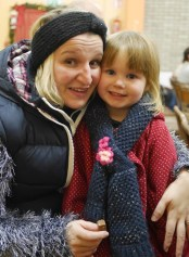 Pre-schooler Abbie Greaney enjoying the Muire Gan Smál concert with her mum Eileen.