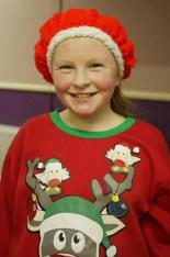Ann-Marie Callaghan getting into the festive spirit at the Muire Gan Smál Christmas Concert.