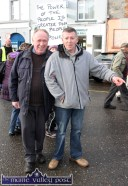 Locals: Moss Reidy (left) and Denis Nolan pictured at the Right2Water protest march in Castleisland today. ©Photograph: john Reidy