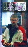 Gussie Shanahan on CCTV on the day he went missins on February 11-2000.