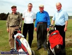 Out on the new golf course in Castleisland on Saturday afternoon were, from left: Seán and Diarmuid Brandon, Castleisland; Tony O' Sullivan, Tarbert and Tim Brandon, Ardfert. ©Photograph: John Reidy 1-6-2002