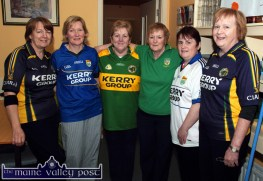 Waiting for Sam: Castleisland Day Care Centre staff members pictured during the visit of the Sam Maguire Cup on Wednesday. Included are from left: Marie Cronin, Helen Greensmyth, Mary O'Sullivan, Eileen Cronin, Mag Lenihan and Eileen Murphy. ©Photograph: John Reidy