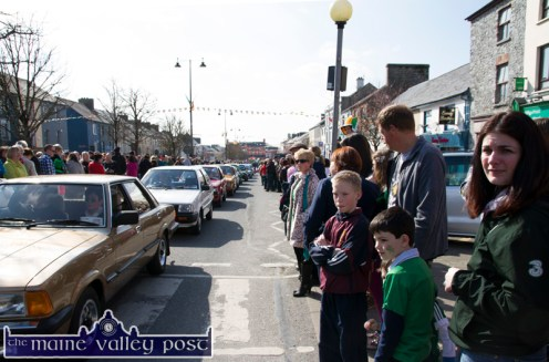 The vintage car section of the parade is always a popular draw at the annual St. Patrick's Day Parade in Castleisland. ©Photograph: John Reidy