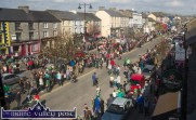 Castleisland's Main Street is thronged during Tuesday's St. Patrick's Day Parade in Castleisland. ©Photograph: John Reidy