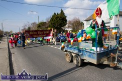 Joe Martin looking the part as Tuesday's St. Patrick's Day Parade gets under way in Castleisland. ©Photograph: John Reidy