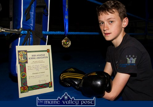 Sliabh Luachra club member and All-Ireland Boxing Champion, Barry O'Connor has been selected to join the high performance training squad in Dublin in the wake of his Irish title win. ©Photograph: John Reidy