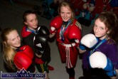 Munster Championship runner-up, Ava Fitzmaurice (left) with title holders: Katelyn Horan, Saoirse Kelly and Danielle O'Neill back in training at the Sliabh Luachra Boxing Club on Thursday night. ©Photograph: John Reidy