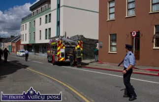 Emergency services swing into action at the scene of the fire this aftrenoon. ©Photograph: john Reidy