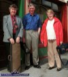 Jack Regan, Castleisland (centre) pictured with Nicky and Anne McAuliffe, Castleisland in Abbeyfeale for the Fleadh on Sunday afternoon. ©Photograph: John Reidy 05/05/2002