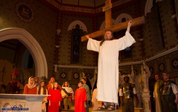 The end is nigh: Noel King as Jesus Christ in the crucifixion scene at the Church of Saints Stephen & John for the Good Friday Dramatisation of the Passion and Death of Christ by the Tralee based St. John's Parish Actors and Choir. ©Photograph: John Reidy 3-4-2015
