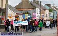Protesters in the Right2Water Castleisland march turning into the Market Cross during Saturday's event. ©Photograph: John Reidy