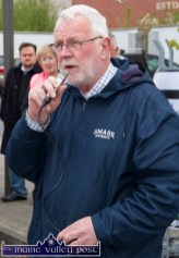 Martin Ferris, TD speaking after the Right2Water Castleisland protest march on Saturday afternoon. ©Photograph: John Reidy