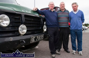 West Limerick men, John Supple, Rathkeale with his vintage Bedford truck with: Pat Connors, Shanagolden and Pat Shanahan, Rathkeale at the Ahern's Opel Vauxhall Club Ireland Vintage Day in Castleisland on Saturday. ©Photograph: John Reidy