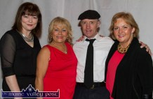 Contestants, Ellen Lynch and Michael Healy Rae, TD with Castleisland Desmonds Ladies Club members: Karen Lynch (left) and Aileen Lynch before the Strictly Come Dancing competition at the River Island Hotel on Friday night. ©Photograph: John Reidy