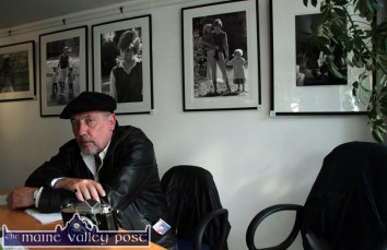 Photographer, John Minihan pictured at the launch of his exhibition at The Seanchaí Centre on Thursday afternoon. The show included his most famous works on Samuel Beckett and the late Princess Diana. ©Photograph: John Reidy 2-6-2011
