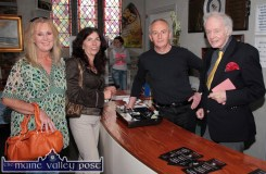 Counter Attack: Writer and broadcaster, Ulick O'Connor pictured with St. John's administrator, Joe Murphy and Betty Stack, Listowel (left) and Killarney based poet, Eileen Sheehan during Saturday's Writers' Week activity in Listowel. ©Photograph: John Reidy 5-6-2010