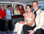There was great excitement in St. Stephen's Park in October 2003 when Castleisland debunantes, Rosie Downey and Liam Cronin travelled by Rolls Royce to the Castleisland Community College debs ball at the Earl of Desmond., Family members, neighbours and friends gathered to see them off including : from left: Mary Teresa Cronin, Liz Walmsley, Mary O'Sullivan and Margaret Mitchell. ©Photograph: John Reidy 17/10/2003