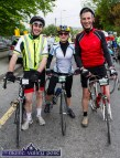 St. Kieran's local supporters: Jack O'Connell (left) with Mary and Denny Lyons at the start of the St. Kieran's GAA Club annual Cycle Tour in Castleisland on Sunday morning. ©Photograph: John Reidy