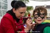 Hanna Bros-Zaleska working on Ben McCarthy's Bat Mask at the estate party in May. ©Photograph: John Reidy