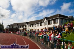Competitors and their families and supporters filing in early on Saturday morning in preparation for the Denny Kerry Community Games Athletics Finals at An Riocht AC, Castleisland. ©Photograph: John Reidy