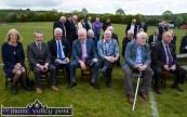 The front bench: At the re-opening of Cordal GAA Club grounds on Sunday afternoon were: Frances Farrell, Seán Kelly, MEP and iar-Uachtarán Cumann Lúthchleas Gael; Aogán Ó Fearghail, Uachtarán Cumann Lúthchleas Gael, Jimmy Deenihan, TD., Minister for the Diaspora; Cllr. John Brassil, Mayor of Kerry; Eamonn O'Sullivan, former county board and Munster council PRO and Diarmuid Ó Sé, Kerry County Board vice chairman. ©Photograph: John Reidy