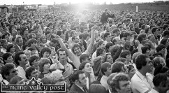 See if you can spot Castleisland native and big-band loving, great character, the late Dermot 'Dicky Bow' Horan close to the stage during the James Last concert in Austin Stack Park during the 1983 Rose of Tralee Festival. ©Photograph: John Reidy 28-8-1983