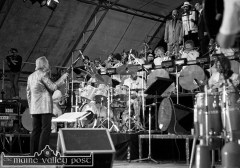 Big Sound: The late James Last pictured at Austin Stack Park during the 1983 Rose of Tralee Festival. ©Photograph: John Reidy 28-8-1983