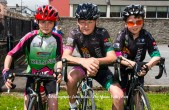 Killarney Cycling Club members from left: Shane Galvin, Óisín O'Connor and Robert Sweeney pictured at the Kerry Youth Cycling Initiative workshop in Castleisland. ©Photograph: John Reidy