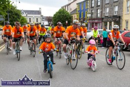 Tears and emotions and a heroes welcome awaited the Clifford family, Ted and Fiona who were joined by their children Conor and Chloe on the final couple of hundred yards of the second annual Longest Day Cycle/Climb/Cycle Challenge in Castleisland on Saturday evening. ©Photograph: John Reidy