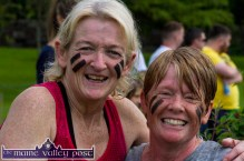 Nearly there: Jackie Linnane, Tralee (left) and Liz Nicholson, Kilflynn take time out for a photograph during HercOileán - The Island Warrior Challenge at An Riocht AC in Castleisland on Saturday morning. ©Photograph: John Reidy