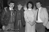 At the All-Ireland Club Football Championship team celebration night at Woodies Hotel were Joe and Maura Hartnett (left) with Helen and Thomas Brennan. ©Photograph: John Reidy 29-3-1985.