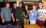 Young musician award winner Cian O'Sullivan, Killarney receiving the Mike Kenny Memorial Perpetual Cup and replica from sponsor, Ted Kenny and Eileen Brick with from left: Pádraig Buckley, Killarney School of Music; Peter Browne, Browne's Bar, Castleisland and Seán Kelliher, Killarney. ©Photograph: John Reidy