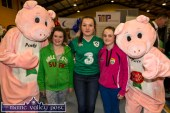 The Truly Irish Porky Twins with from left: Alex Sheehan, Katie O'Connor and Clodagh Swanser at the Bank of Ireland Expo on Friday night. ©Photograph: john Reidy