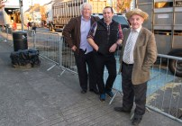 John McSweeney, Kilcummin (left) pictured with Eamon Sheehy, Lyreacrompane and Jerry Cremins, Castleisland pictured at the annual November Horse Fair in Castleisland on Monday afternoon. ©Photograph: John Reidy