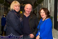 Scartaglin couple, Joan and Jerome Browne pictured with teacher, Noreen Barrett at the Castleisland Community College Open Night. ©Photograph: John Reidy