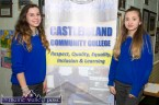 Students, Patrycja Holewa (left) and Joanna Drozd helping out at the Castleisland Community College Open Night. ©Photograph: John Reidy