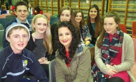 Group photograph at the show with: Jack Flynn, Daniel Culloty, Katie Flynn, Aoife Walsh, Orla O'Connor, Fiona Nelligan-Maguire.
